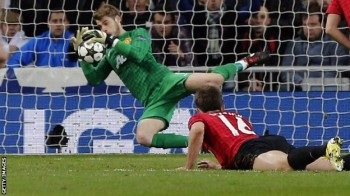 David De Gea was the real hero of the evening and made a number of key saves to secure a precious draw for his team.