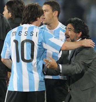 Maradona And Aguero
