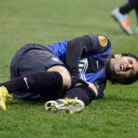Diego Milito will be out for a while because of his injury in the Europa League