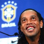 England vs Brazil-Ronaldinho all smiles as he looks forward to World Cup 2014 glory