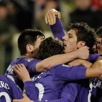 Fiorentina dominated from start to finish with Adem Ljajic and Stevan Jovetic both scoring twice for the Viola.