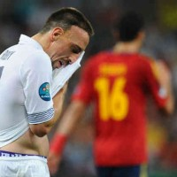 Franck Ribery couldn't believe that his team got defeated in the Euro 2012 against Spain in the quarter finals