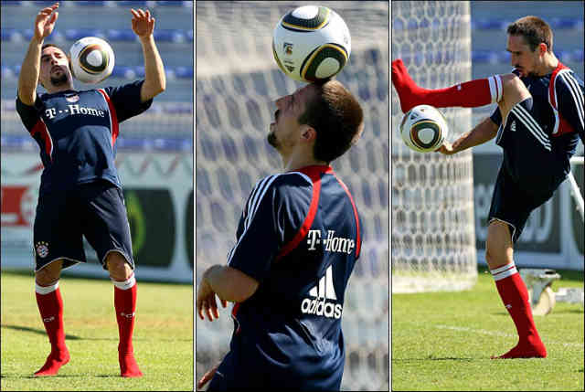 Franck Ribery who gets attacked by a fan in his training