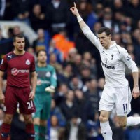 Gareth Bale celebrates his goals as he continues to grow