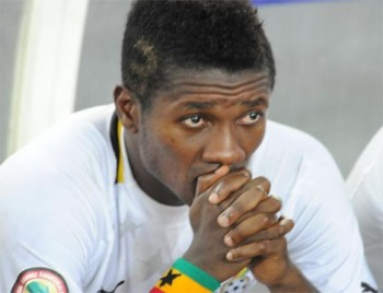 Ghana captain Asamoah Gyan refused to blame a poorly conditioned pitch for their African Nations Cup semi-final exit against Burkina Faso
