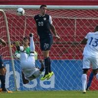 In World Cup qualifying match Honduras 2 - 1 USA Carlos Garcia (Honduras) scored a magnificent bicycle kick goal.