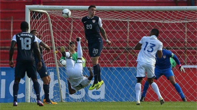 In World Cup qualifying match Honduras 2 - 1 USA Carlos Garcia (Honduras) scored a magnificent bicycle kick goal.