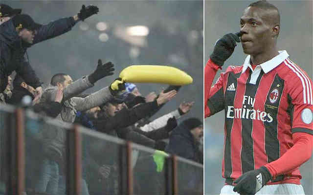 Inter Milan fans are fined for the racist comments they made on Mario Balotelli