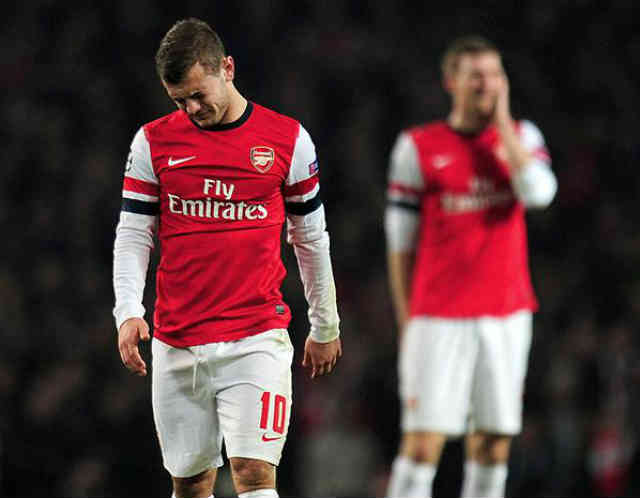 Jack Wilshere disappointed with the lose at the Emirates stadium