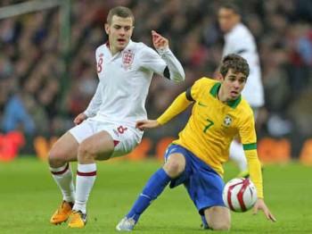 Jack Wilshere who was nomniated man match was said to play like a Brazilian