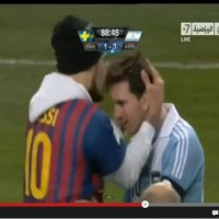 Lionel Messi Fan invades pitch and kisses Messi during Argentina-Sweden 3:2 Friendly