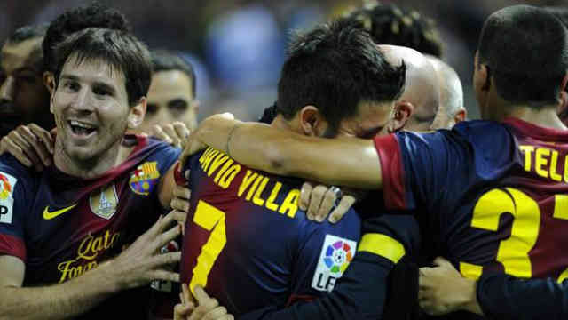 Messi and David Villa come back with their goals in the net of Sevilla