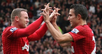 On the pitch he's very bright...but Manchester United forward Wayne Rooney says Robin van Persie is the easiest player to wind up off the pitch.