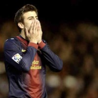 Pique in shock with the play of his team as they draw with Valencia
