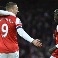 Podolski came to the rescue for the Gunners