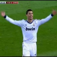 Ronaldo celebrates after Varane third goal in a memorable performance in the Copa Del Rey Clasico against Barcelona he hailed as 'perfect'