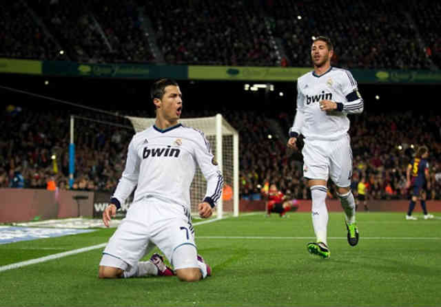 Ronaldo scores in the Nou Camp and means he is ready for Tuesday Champions League match against Manchester United