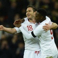 Strikes from Wayne Rooney and Frank Lampard either side of half-time ensured England recorded their first victory over Brazil since 1990 with a 2-1 win