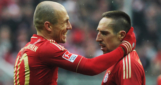 The relationship of Ribery and Robben is starting to mend nicely