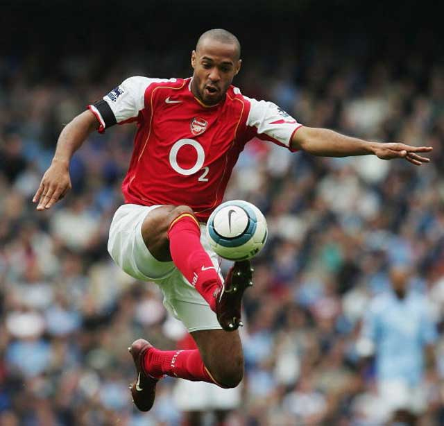 Thierry Henry takes a deft touch back in his Arsenal days