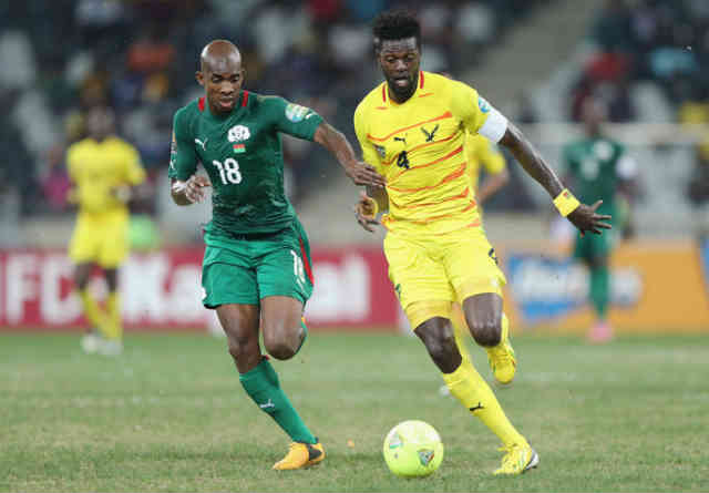 Togo were kicked out by Burkina Faso and Adebayor isn't happy at the outcome with the Didier Six