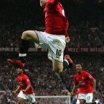 Manchester United's Wayne Rooney celebrates another goal.