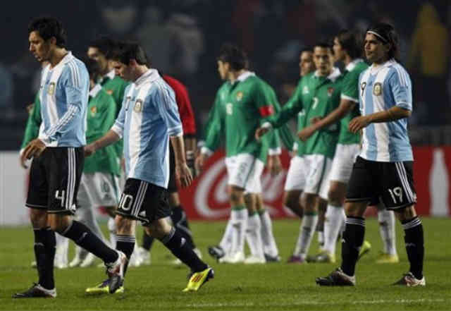 Argentina shocked with their performance against Bolivia