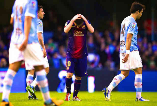 Celta Vigo managed to keep up with Barca by resulting in a draw