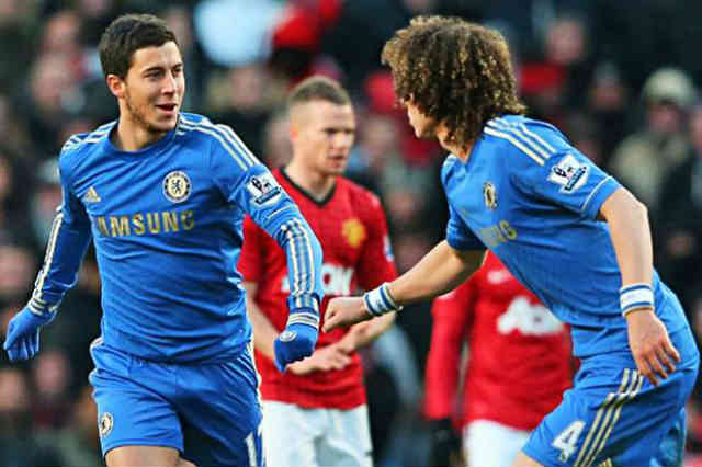 Eden Hazard scores against Manchester United which was beauty as he described it