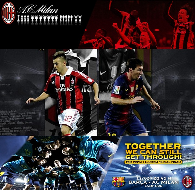 FC Barcelona vs AC Milan- Camp NOu - 12-03-2013- 7.45PM GMT- Watch it live here