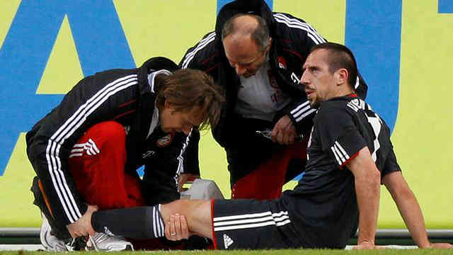 Franck Ribery will be out for while with his injury on his left knee