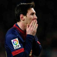 Messi in shock of losing their match against Real Madrid