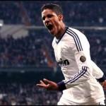 Real Madrid Pepe admires Raphael Varane