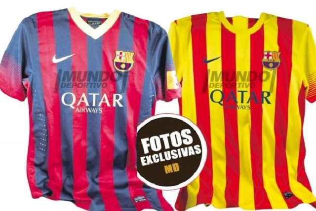 The new jersey of FC Barcelona season 2013-2014