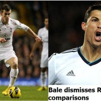 Tottenham winger Gareth Bale has dismissed Cristiano Ronaldo comparisons