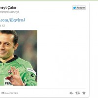 Turkish referee Cuneyt Cakir, who gave Nani a red card has a Twitter account and follows Real Madrid and Cristiano Ronaldo