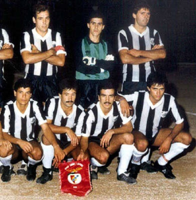 União Futebol Comércio Indústria de Setúbal, 1987, can you spot Jose Mourinho as a young football player?