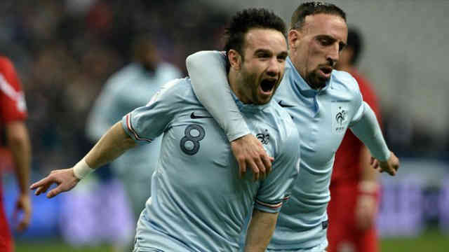 Valbuena and Ribery both score for their country