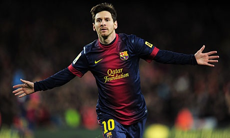 Barcelona's Lionel Messi celebrates another victory