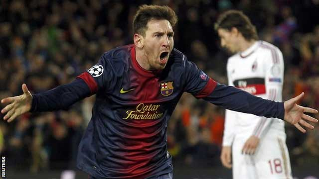 Messi destroys Milan in yet another outstanding performance.