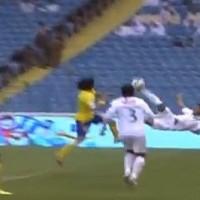 Emad Al Hosani scores a scissors kick from a corner – Al Ahli vs Al Nassr