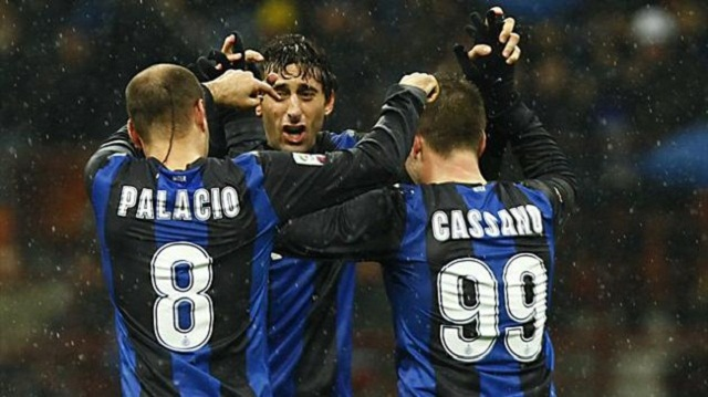 28 goals from the tridente Milito, Cassano, and Palacios. You can win the Serie A moreover Champions League with that record