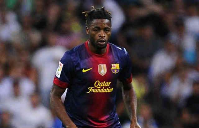 Alex Song isn't happy in being in FC Barcelona because of not playing at the starting eleven