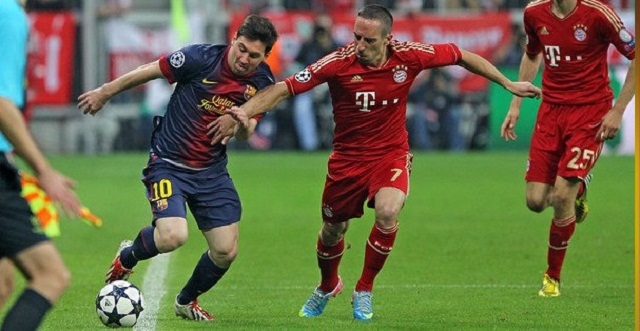 Completely  invisible. Lionel Messi perhaps should not have played this game. against bayern. Ribéry was outstanding.