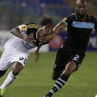 Fenerbahce held off a determined Lazio to reach the last four in a European competition for the first time with a 1-1 draw
