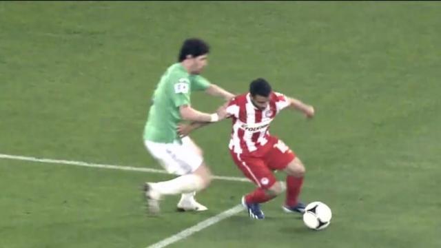 Giannis Fetfatzidis scored a Messi-esque goal for Olympiacos against Panathinaikos.