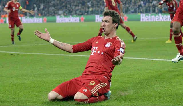 Mandzukic celebrates his goal against the Italians, Juventus and puts Bayern to the semi finals