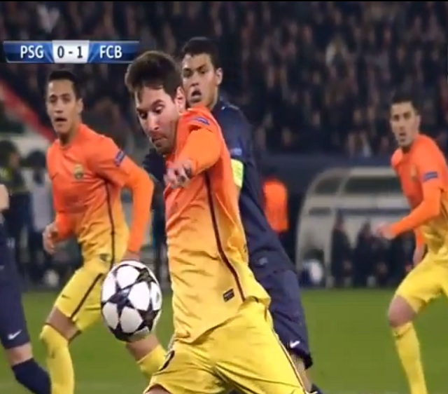 Messi scored the first goal yesterday against PSG in the Champion's League quarter final but was injured shortly after that and had to be substituted