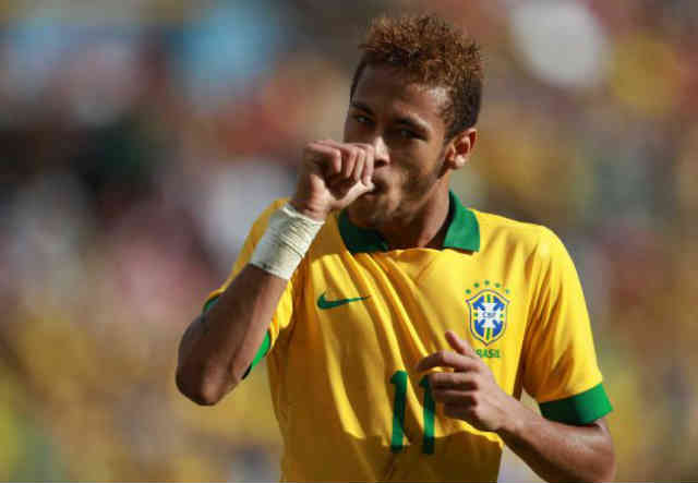 Neymar celebrates both his goal against Bolivia
