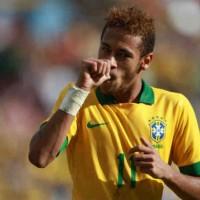 Neymar celebrates both his goal against Bolivia-Football